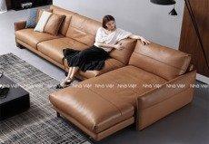 sofa da phòng khách