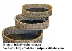 Pets Puppy house Natural woven wicker rattan pet sleeping house basket