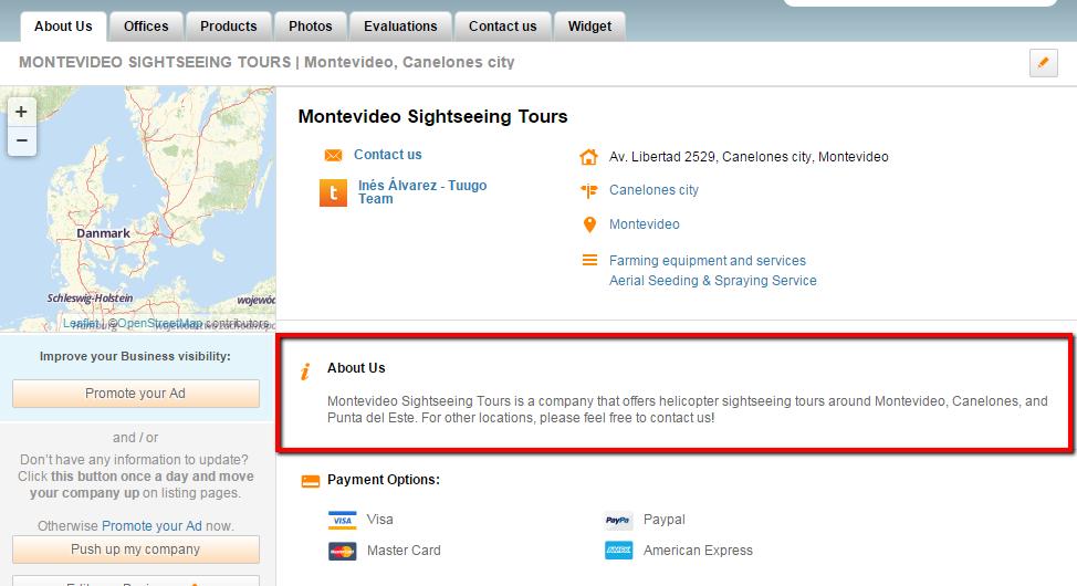 Business description on Business Profile